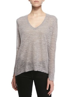 J Brand Ready to Wear Berendo Knit V-Neck Sweater