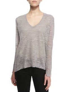 J Brand Ready to Wear Berendo Knit V-Neck Sweater