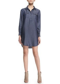 J Brand Ready to Wear Brea Woven Chambray Shirtdress