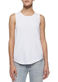 J Brand Ready to Wear Candice Rib-Knit Tank, White