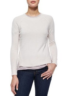 J Brand Ready to Wear Cashmere Eugina Slit-Hem Sweater