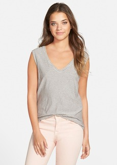 J Brand Ready-To-Wear 'Coronado' Stripe V-Neck Tee