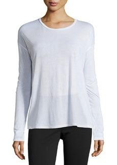 J Brand Ready to Wear Dolman Long-Sleeve Tee, White
