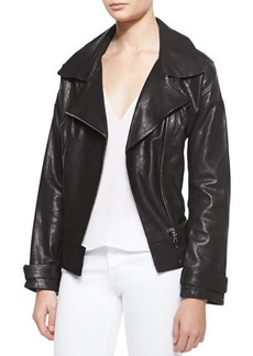 J Brand Ready to Wear Durham Leather Long-Sleeve Jacket