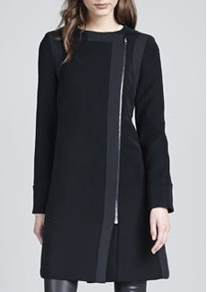 J Brand Ready to Wear Florence Asymmetric-Front Coat