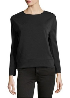 J Brand Ready to Wear Georgette Deep Surplice Top