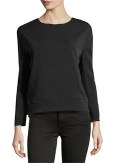 J Brand Ready to Wear Georgette Deep Surplice Top, Black