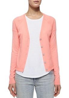 J Brand Ready to Wear Gia Cashmere Button-Front Cardigan, Flamingo