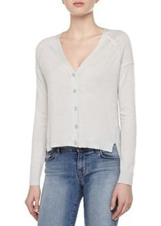J Brand Ready to Wear Gia Cashmere Long-Sleeve V-Neck Cardigan Sweater