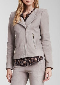 J Brand Ready to Wear Jacqueline Asymmetric Suede Jacket