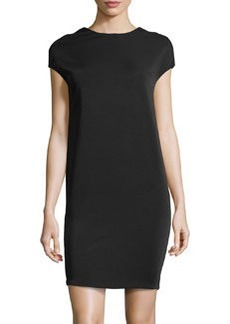 J Brand Ready to Wear Jersey Back-Wrapped Dress, Black
