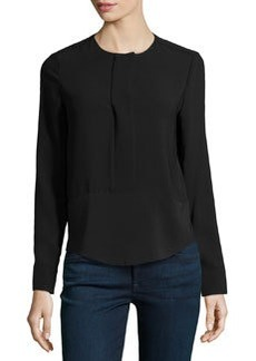 J Brand Ready to Wear Jersey Long-Sleeve Blouse, Black