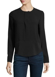 J Brand Ready to Wear Jersey Long-Sleeve Blouse