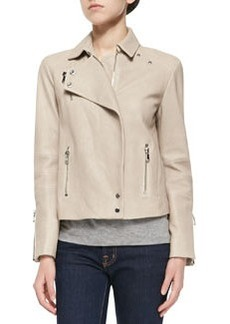 J Brand Ready to Wear Lais Leather Zipper Moto Jacket