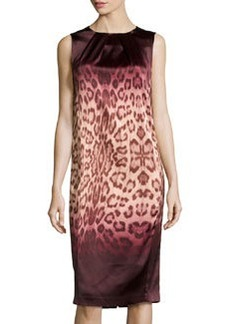 J Brand Ready to Wear Leopard-Print Jersey Dress