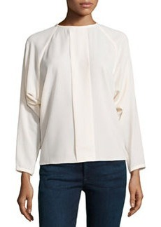 J Brand Ready to Wear Long Dolman-Sleeve Blouse, Marble