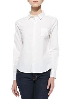 J Brand Ready to Wear Louise Fitted Long-Sleeve Blouse