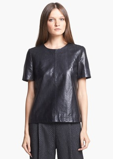 J Brand Ready-to-Wear 'Marilena' Leather Tee
