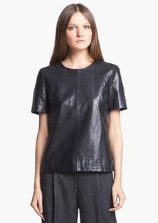 J Brand Ready-to-Wear 'Marilena' Leather Tee