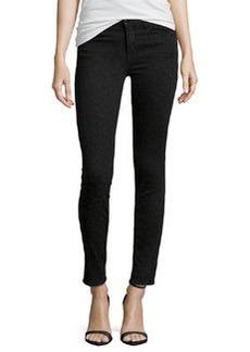 J Brand Jeans Mid-Rise Super Skinny Jeans, Black Leopard