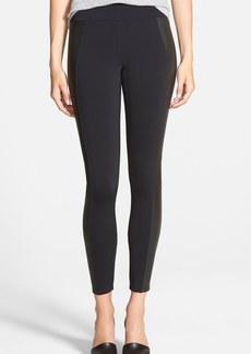 J Brand Ready-To-Wear 'Mugu' Leather Panel Pants
