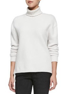J Brand Ready to Wear Nana Turtleneck Sweater W/ Side Zips