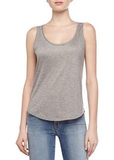 J Brand Ready to Wear Natasha Jersey Knit Tank Top, Gray