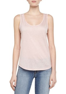 J Brand Ready to Wear Natasha Jersey Knit Tank Top, Pink
