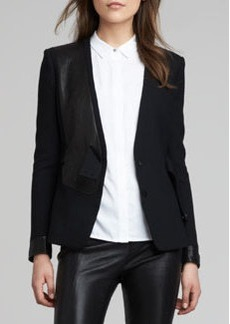 J Brand Ready to Wear Odilie Mix-Fabric Jacket