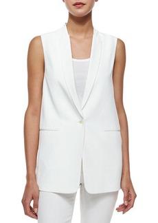 J Brand Ready to Wear Padella Single-Button Vest, White