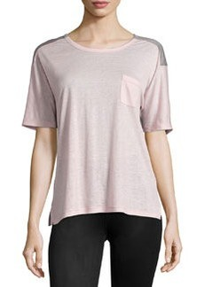 J Brand Ready to Wear Pocket Colorblock Tee, Pink/Gray