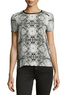 J Brand Ready to Wear Printed Jersey Top, Black/Glass