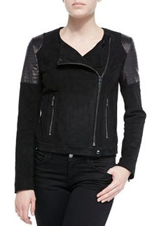 J Brand Ready to Wear Ranya Suede & Leather Moto Jacket
