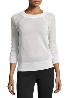 J Brand Ready to Wear Ribbed Panel Sweater