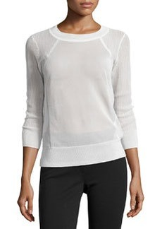 J Brand Ready to Wear Ribbed Panel Sweater, White