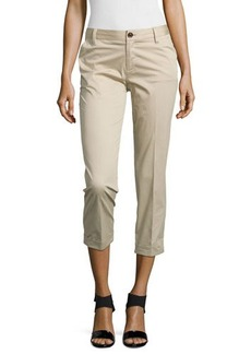 J Brand Ready to Wear Rolled-Cuff Crop Trousers