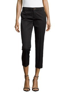 J Brand Ready to Wear Rolled-Cuff Crop Trousers, Black