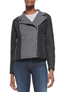 J Brand Ready to Wear Sean Felt/Tech-Fabric Jacket