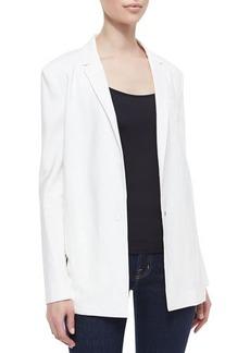 J Brand Ready to Wear Sharman Sheer-Back Long Blazer
