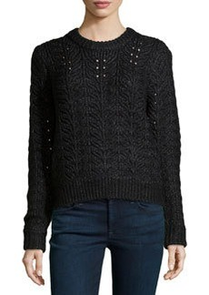 J Brand Ready to Wear Shimmery Knit Beaded Sweater, Black