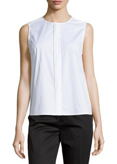 J Brand Ready to Wear Sleeveless Concealed-Placket Blouse