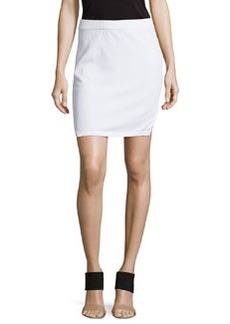 J Brand Ready to Wear Smooth/Patterned Knit Skirt, White