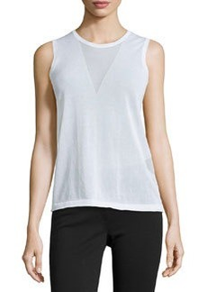 J Brand Ready to Wear Triangle Sweater Tank, White