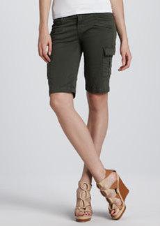 J Brand Ready to Wear Twill Cargo Knee Shorts