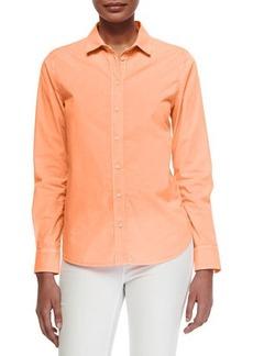 J Brand Ready to Wear Venice Long-Sleeve Twill Blouse