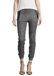 J Brand Ready to Wear Zip-Pocket Jogger Pants, Dark Heather Gray