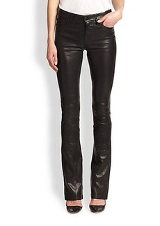 J Brand Remy Leather Bootcut Jeans