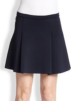 J Brand Rhodes Pleated Scuba Mini Skirt