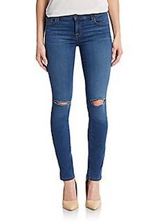 J Brand Ripped Knee Skinny Jeans