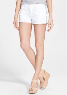 J Brand 'Rita' Side Zip Cutoff Denim Shorts (Pure White)